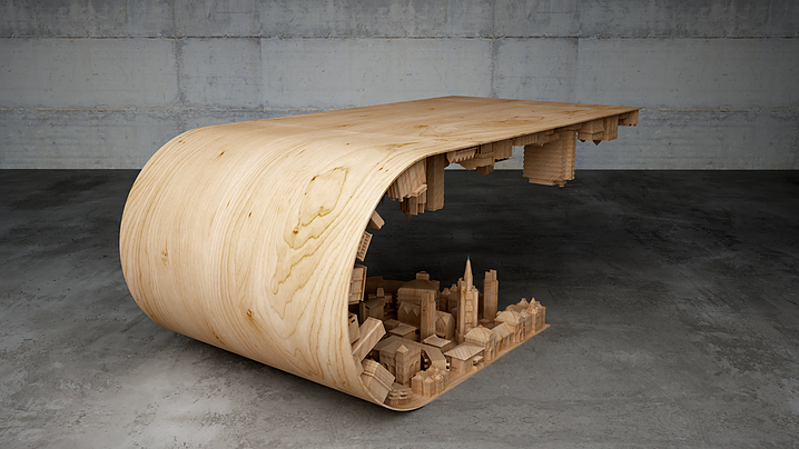 Wave City Amazing Inception Inspired Coffee Table