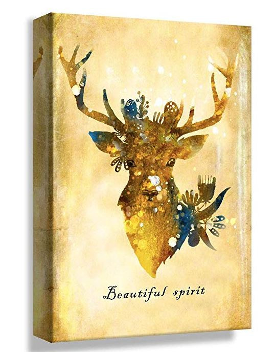 Creative Vintage Look Deer Wall Art Canvas