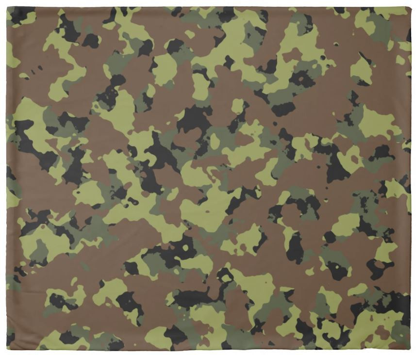 Microfiber Military Green Camouflage Patterned Duvet Cover