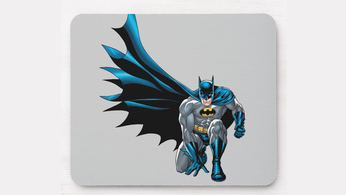 Batman Crouching Cool Superhero Mouse Pad