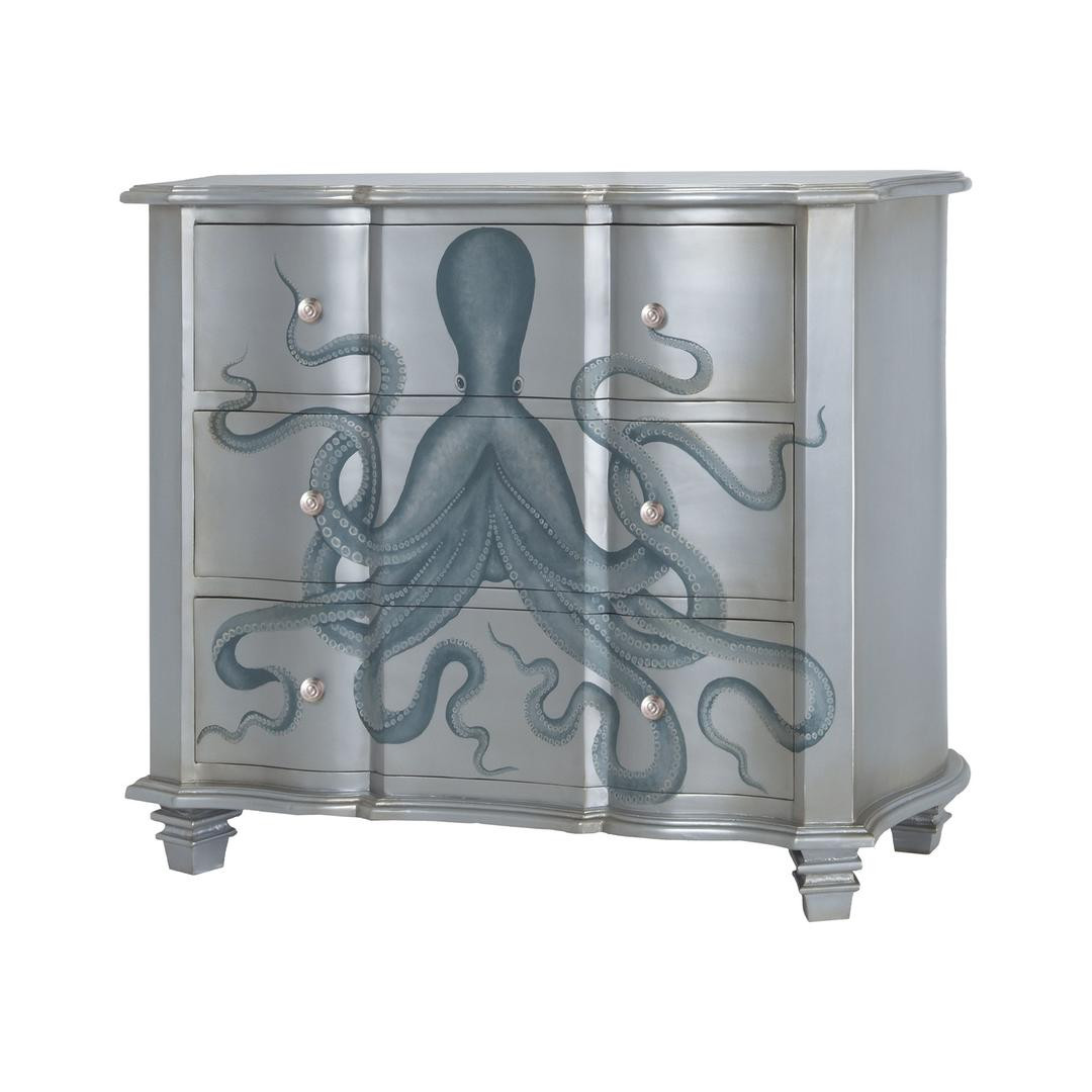 Creative Silver And Blue Octopus Chest Of Drawers
