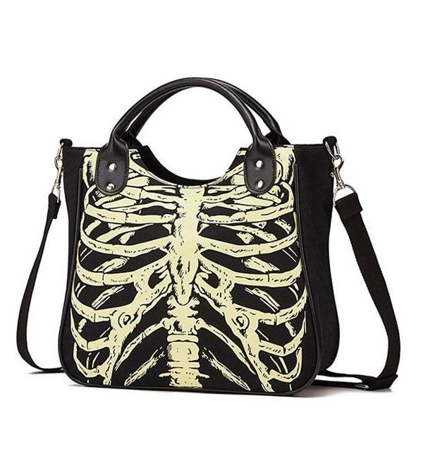 Glowing Skeleton Bones Cool Gothic Handbag