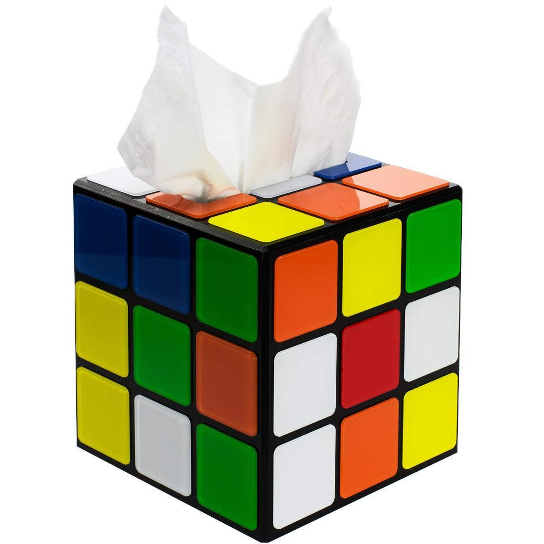 Retro Rubix Cube Tissue Box Cover For 80s Fans