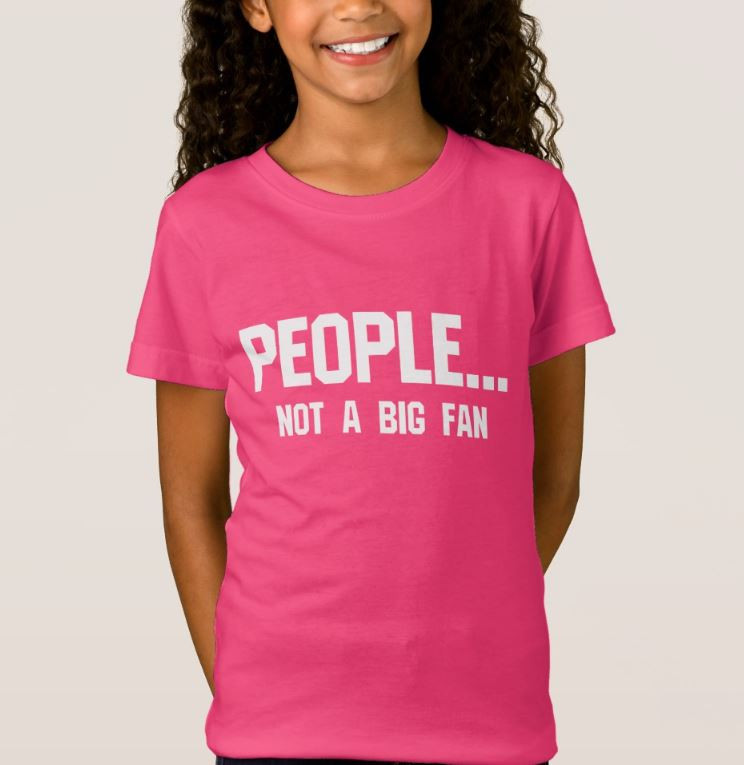 Funny Introvert T-Shirt People Not A Big Fan