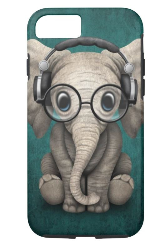 Super Cute Nerdy Elephant Smartphone Case
