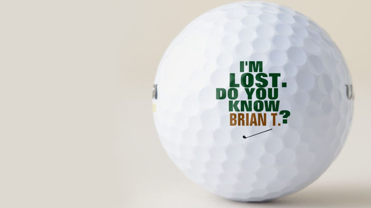 Funny Personalized Lost Golf Balls Pack Of Three