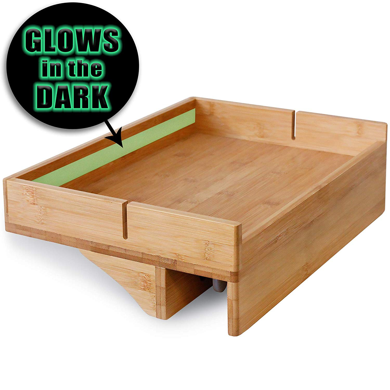 Floating Night Stand With Glow In The Dark Strip