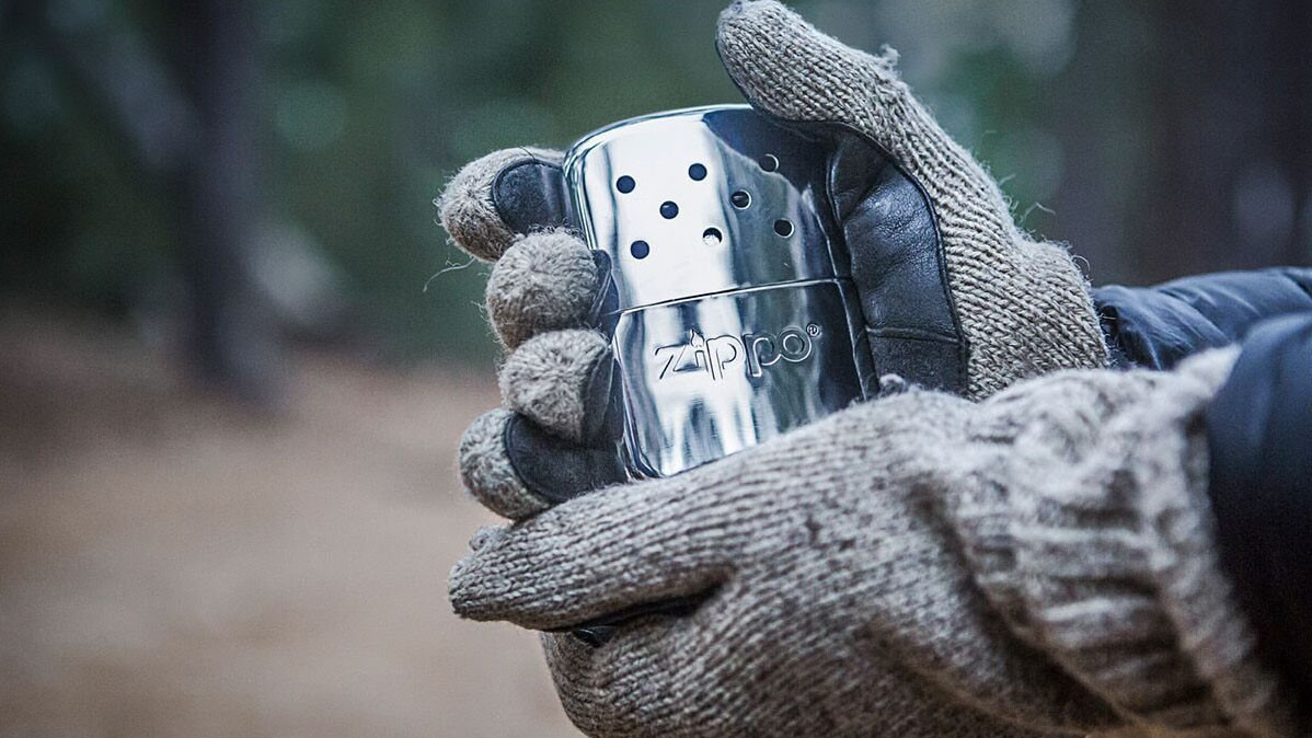 Sleek and Flameless Refillable Zippo Hand Warmer