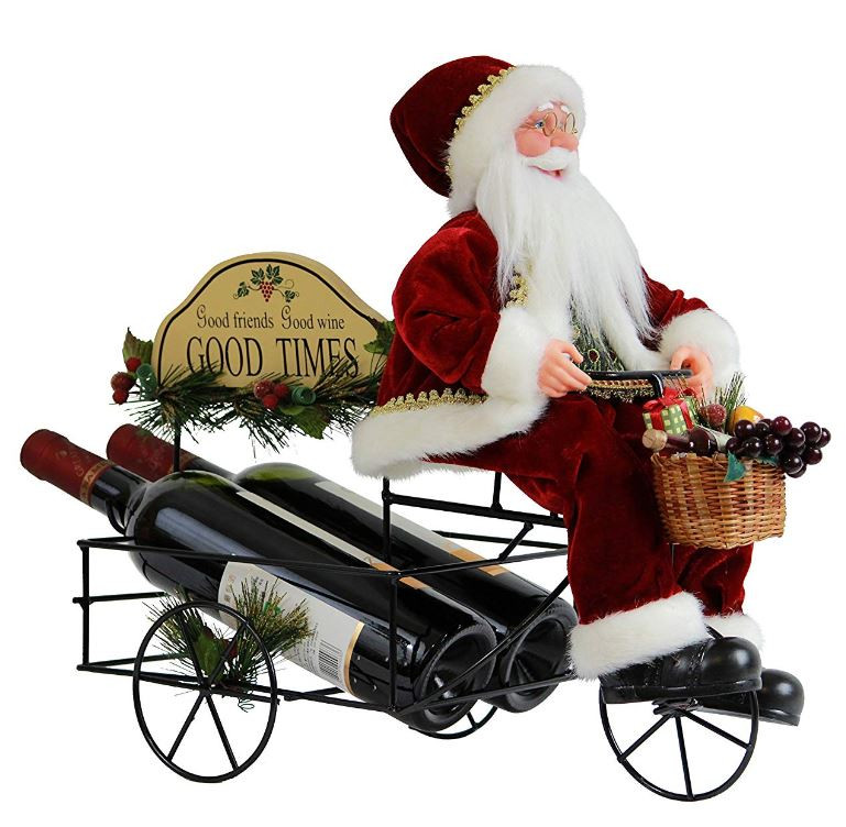 Seasonal Santa Claus Holiday Wine Rack