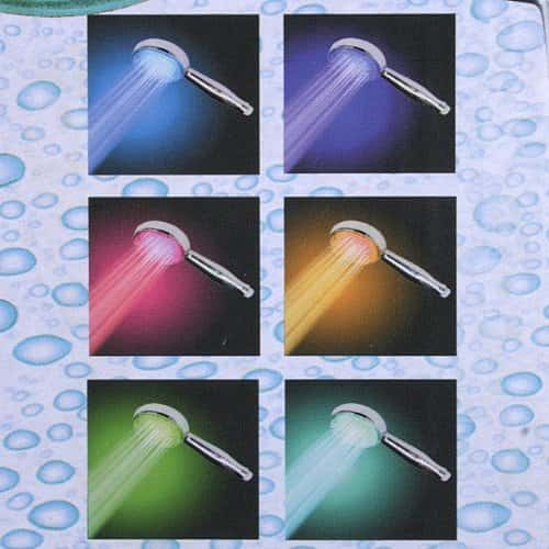 color changing LED HAND SHOWERHEAD