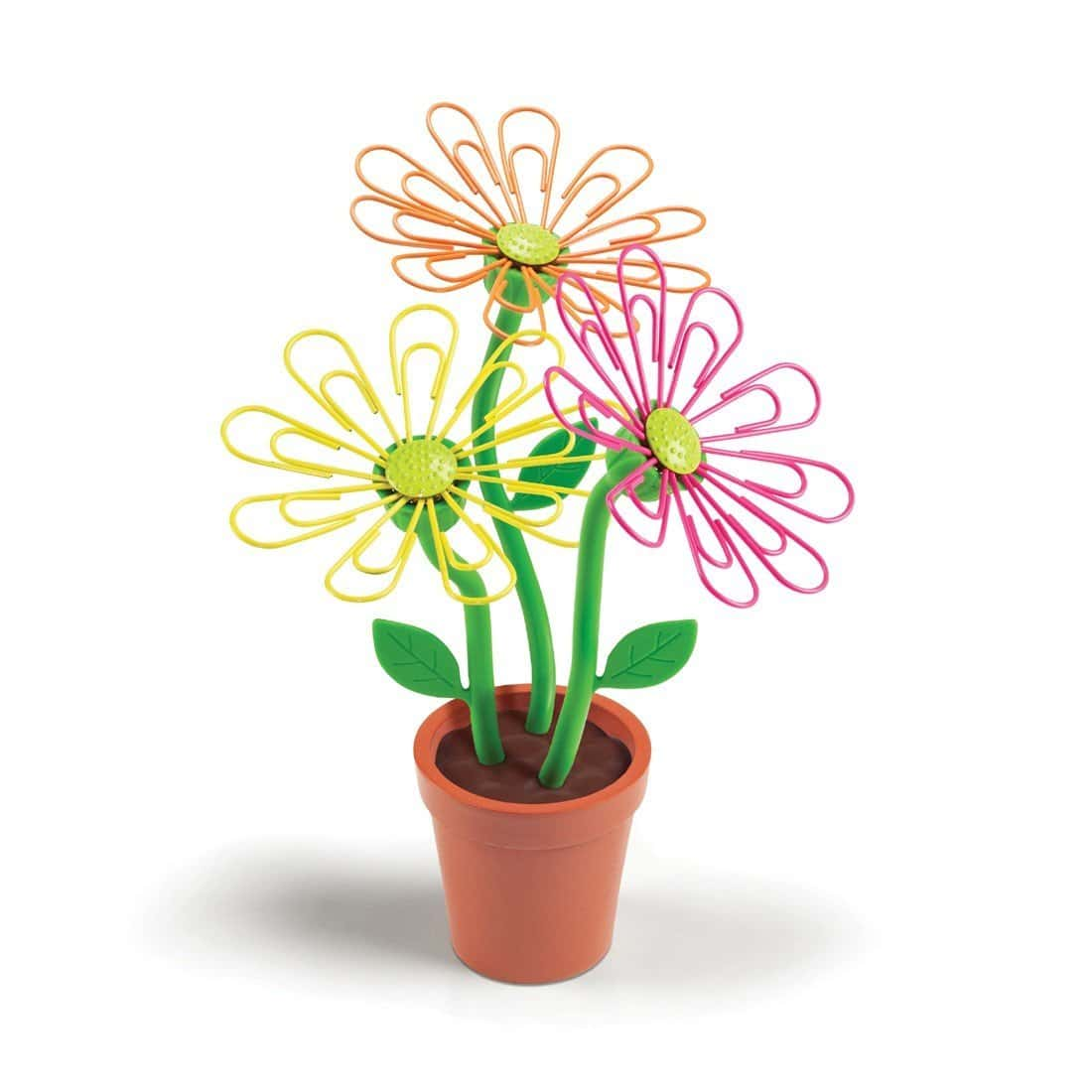daisy paperclip holder