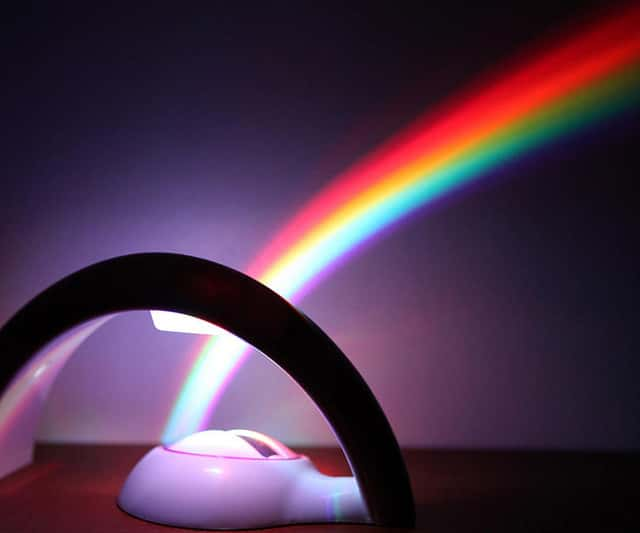 Rainbow in Room at