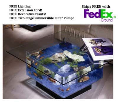 Tropical Aquarium Coffee Table