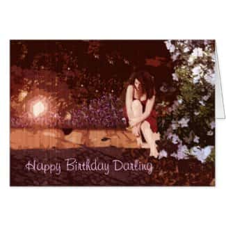 Darling Vintage garden birthday card