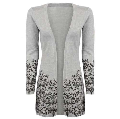 Grey Baroque Cardigan