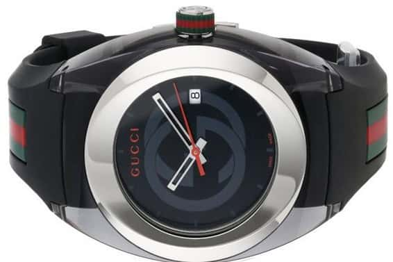 guccie black sync watch