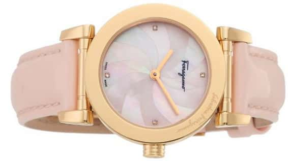mother of pearl diamond watch