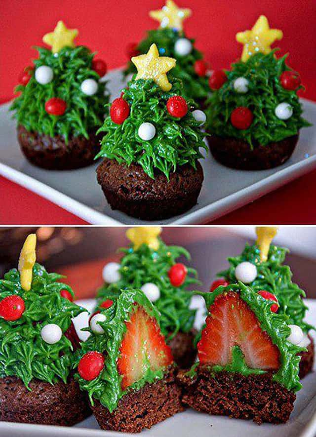 creative christmas tree cakes