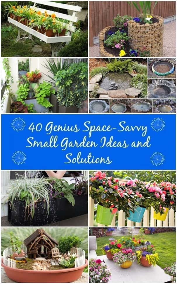40 Creative Small Garden Ideas