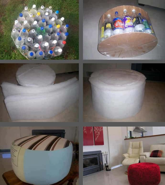 Cool DIY Upcycled Footrest