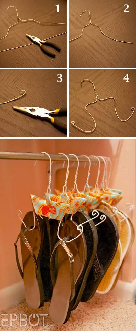 Innovative DIY Shoe Storage