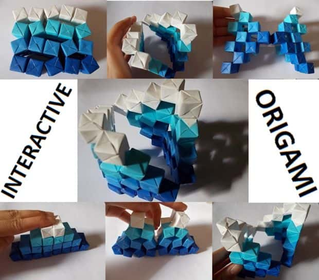 Amazing Kinetic Origami Sculpture