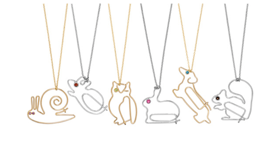Katie Hiller Paper clip pendants Adorn London jewellery blog