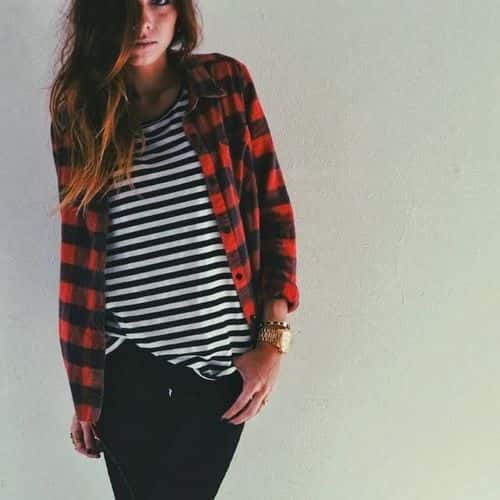 stripes with plaid