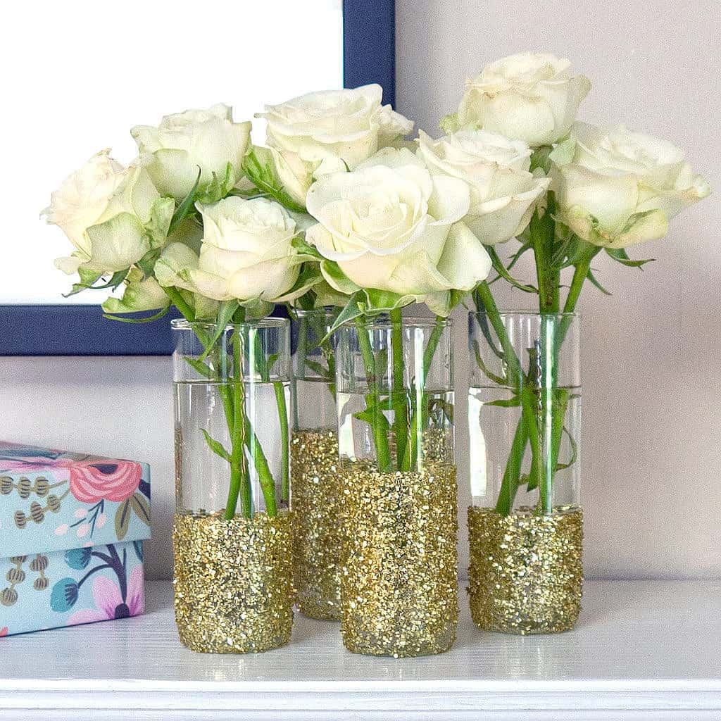Glitter-Shot-Glass-Vases