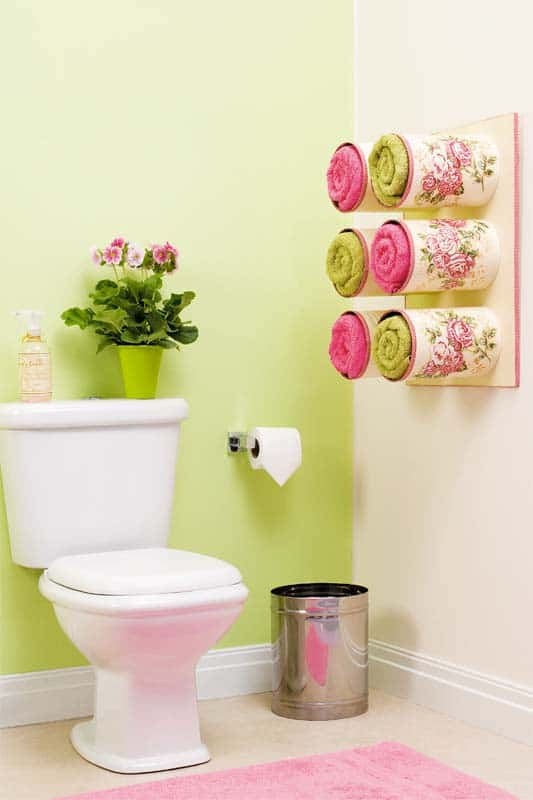 Reorganize Your Bathroom Using Tin Cans