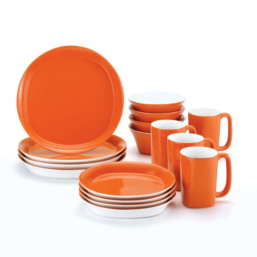 1adinner set orange