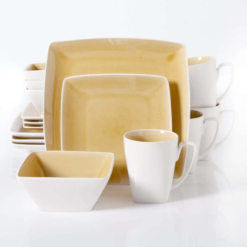 1adinner set yellow