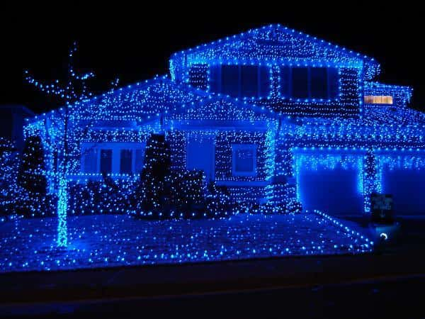 Chrostmas lights blue