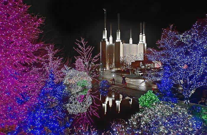 Mormon Temple Lights