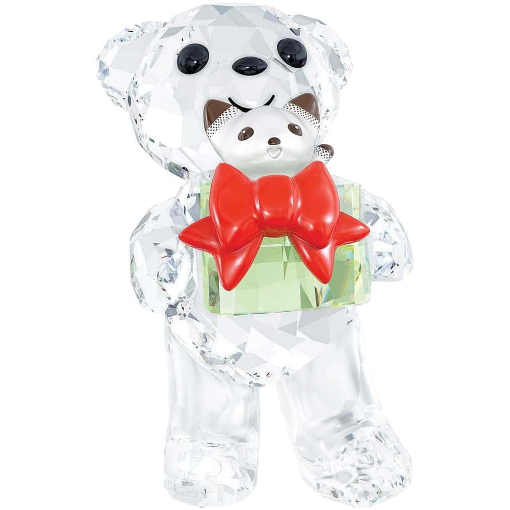 swarovski christmas bear