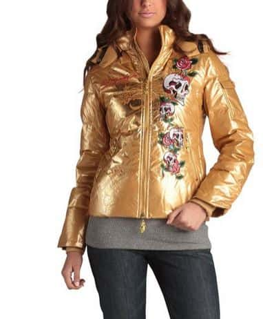 womens swag gold skull jacket