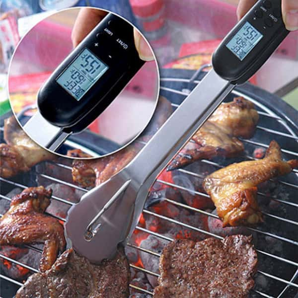 Digital Thermometer BBQ Tongs