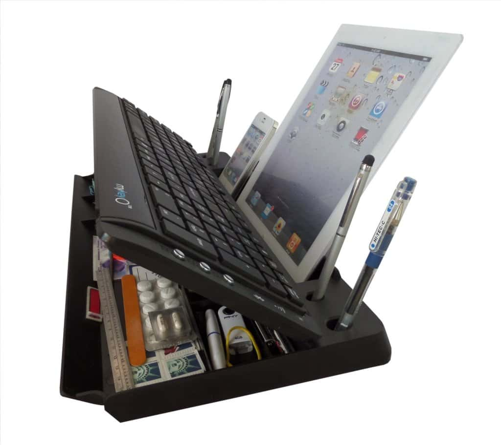 Bluetooth Keyboard Organizer Stand