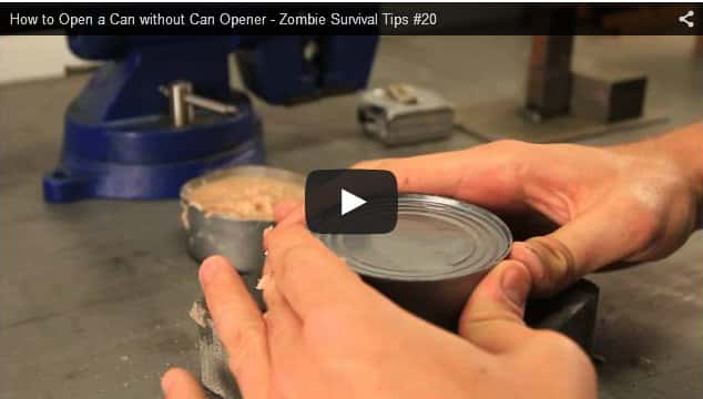 How To Open A Can Without Tools