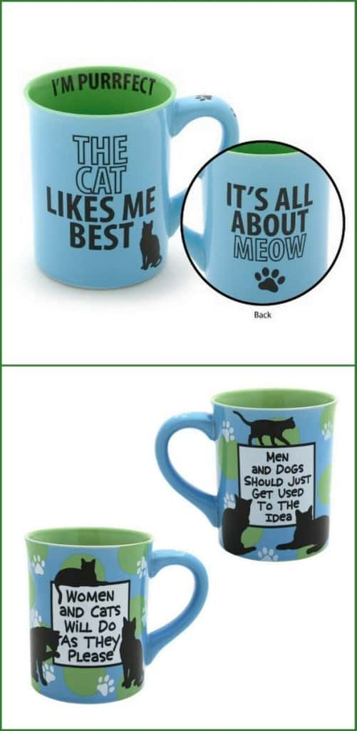 cat quote mugs