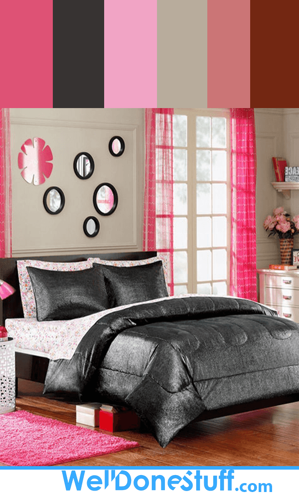 Pink and Black Bedroom Color Inspiration
