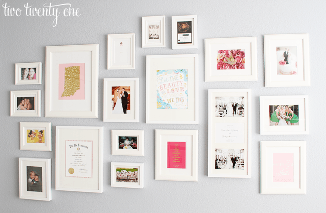 gallery wall white