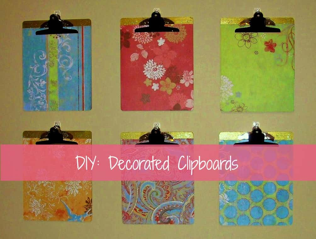DIY decorated clipboards