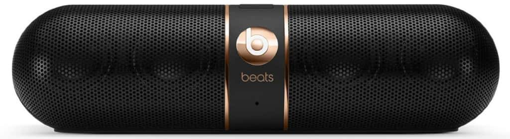 black with rose gold speaker