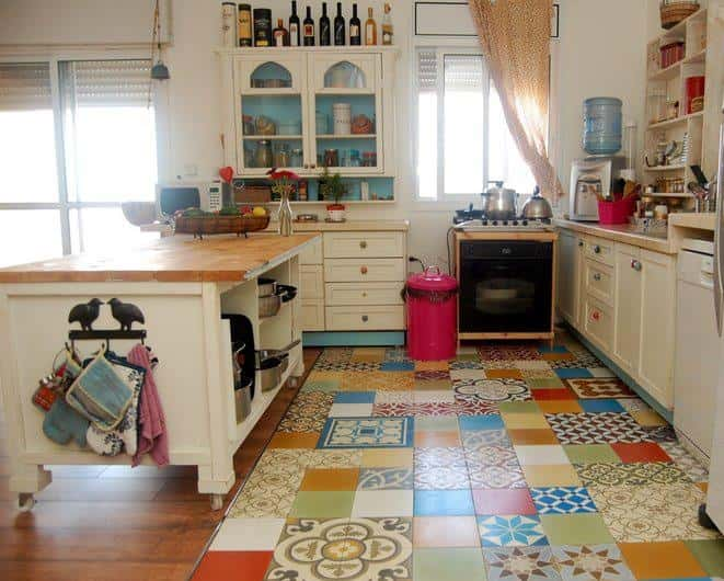 kitchen tile collage
