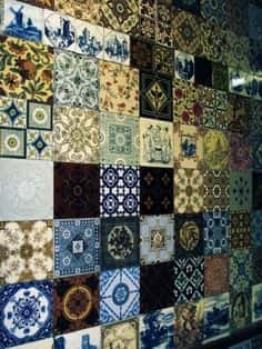mis matched tile collage