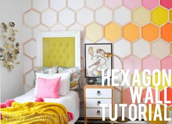 Honeycomb feature wall