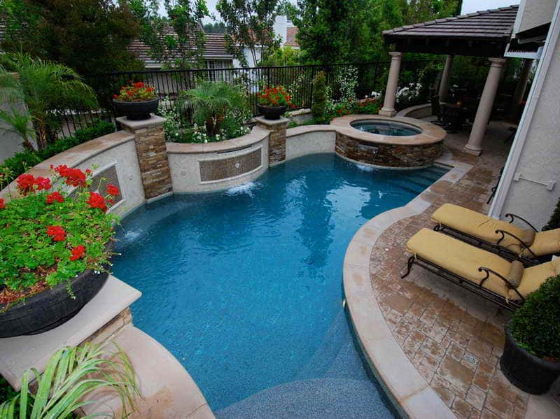 custom shaped pool