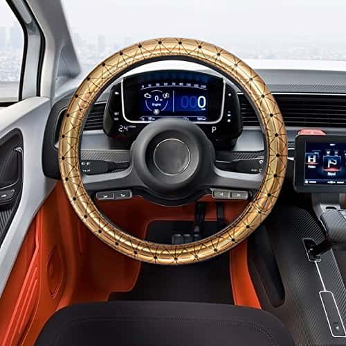 gold steering wheel cover