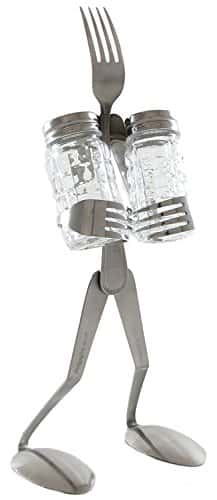 fork salt and pepper shakers